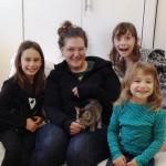 April Pet Ambassadors with Hopalong volunteer coordinator Lauren Brisken.