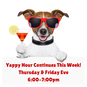 Join Us for Yappy Hour!